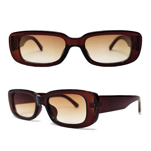 Okulary Przeciwsloneczne Prostokatne Brazowe Ella 9431072435 Allegro Pl