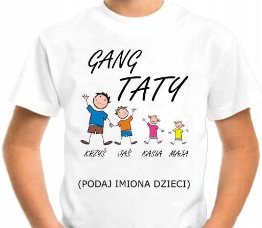 Koszulka Na Dzien Ojca Prezent Gang Taty 9376855230 Allegro Pl
