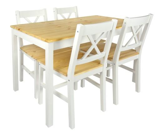 Stół+4 krzesła, do salonu, jadalni styl skandynaws