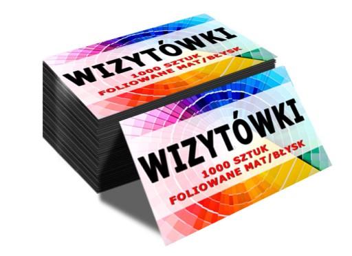 350g WIZYTÓWKI 1000szt FOLIA MAT/BŁYSK DWUSTRONNE