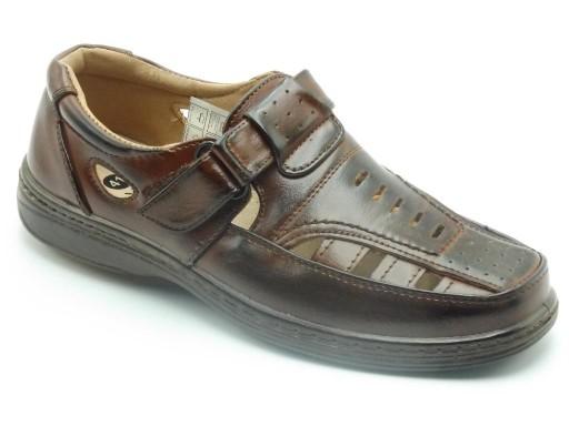 Sandały męskie 42 - WzÓr: C00011 brązowy 10755694031 Obuwie Męskie Męskie NI UFHINI-9