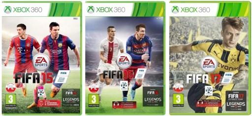 Pakiet 3 Gry Fifa 17 16 15 Polski Dubbing Xbox 360 Stan Nowy 9677180596 Allegro Pl