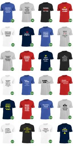 ciężko jest lekko żyć koszulka dzień chłopaka wzÓr 9627557539 Odzież Męska T-shirty FC JBEZFC-5