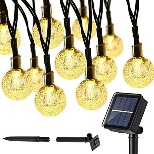 Lampki Solarne Ogrodowe Żarówka Lampa 50 LED 9.5 M