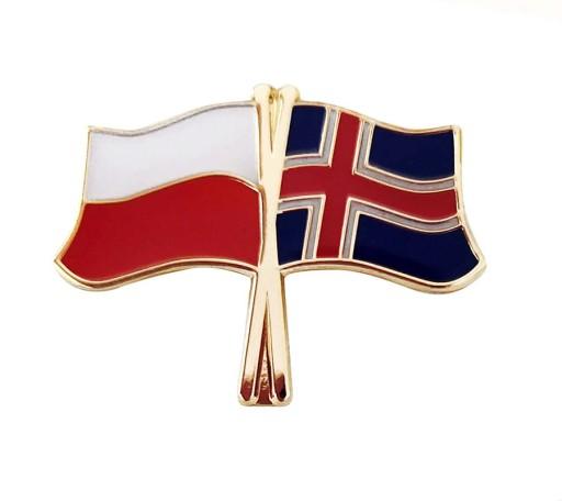 Flaga Polska Islandia Przypinka 8475918227 Allegro Pl
