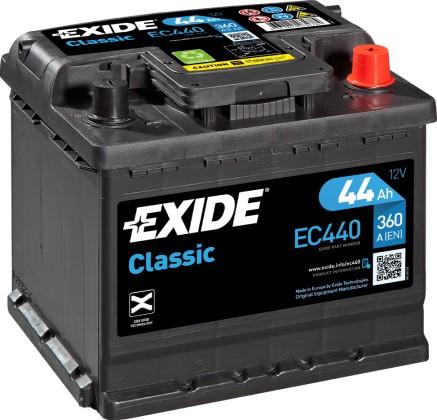 BATTERY EXIDE CLASSIC EC440 44AH 360A LT