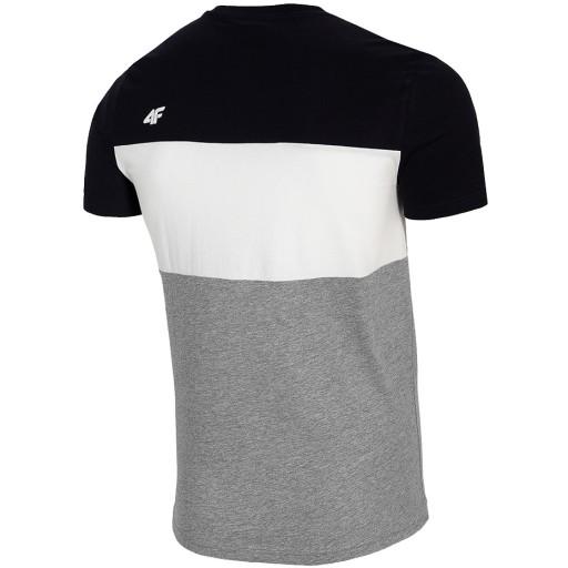 4F KOSZULKA MĘSKA T-SHIRT BAWEŁNA TSM016 NY r XL ! 10775477550 Odzież Męska T-shirty LR BHVELR-2