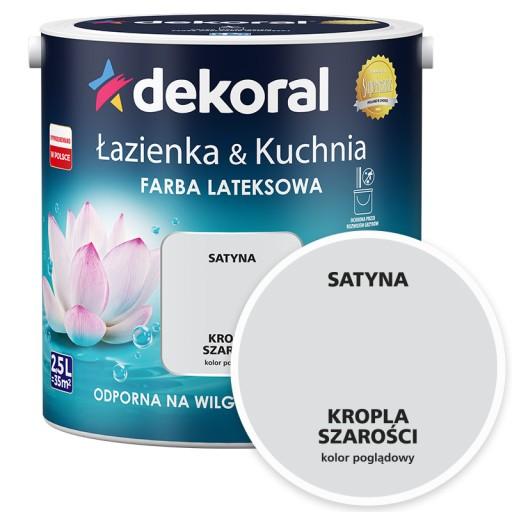 DEKORAL ŁAZIENKA&KUCHNIA kropla szarości 2,5L
