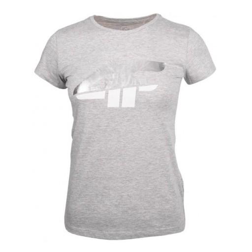 Koszulka dla dziewczynki 4F szary melanż HJZ20 JTS 10584101721 Odzież Męska T-shirty GO TBFXGO-1