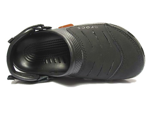 Crocs Yukon Klapki sandały buty dziury czarne 10706675128 Obuwie Męskie Męskie IU ZUCNIU-3