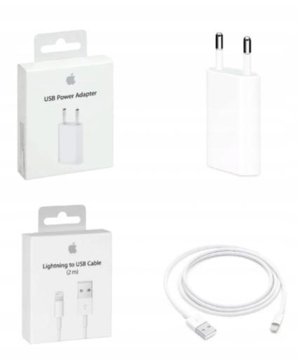 Ładowarka Apple USB 5W + Kabel Lightning 2m