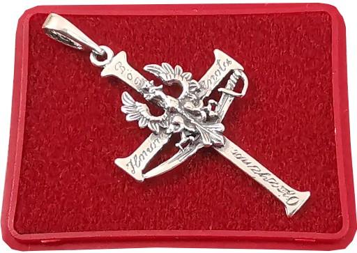 Krzyz Krzyzyk Z Orlem Srebrny Bog Honor Ojczyzna 7088920439 Allegro Pl