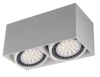 Lampa sufitowa spot Zuma Line BOX 2 biała 2x 50W