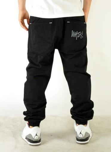 Spodnie 34 Mass Denim Signature Jogger Czarne 10481129784 Odzież Męska Spodnie RW XOTURW-1