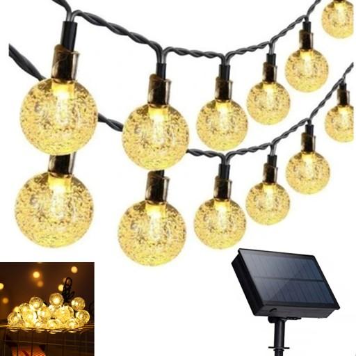 Lampki Solarne Ogrodowe Żarówka Lampa 100 LED 12 M