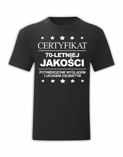 KOSZULKA URODZINOWA NA URODZINY 70 LAT - XL 10511324605 Odzież Męska T-shirty ED FRQSED-7