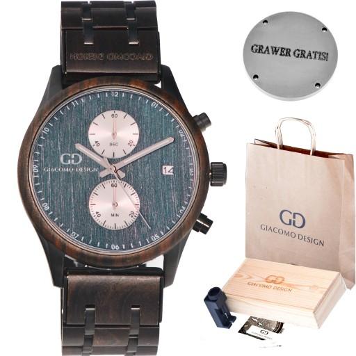 Zegarek męski drewniany Giacomo Design GD481 NEW!