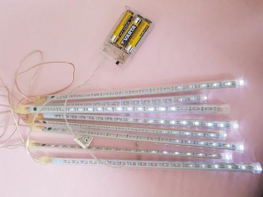 Światła LED ozdoba świąteczna sople białe spływają