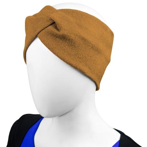 Damski turban opaska dzianinowa twist na jesień