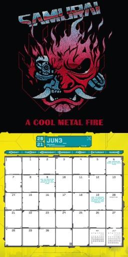 Oryginalny kalendarz Cyberpunk 2077 na rok 2021