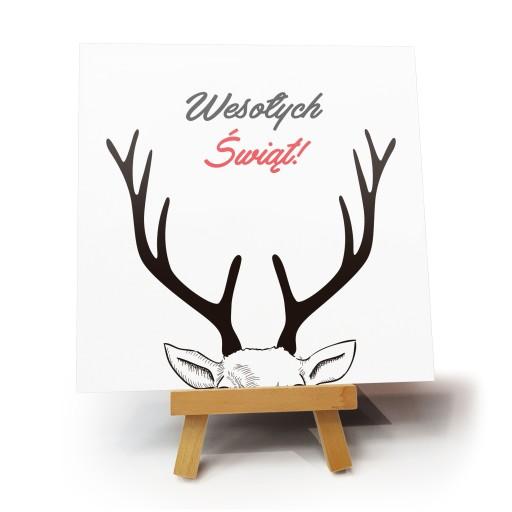 """Kartka bożonarodzeniowa """"Rogi Rudolfa"""""""