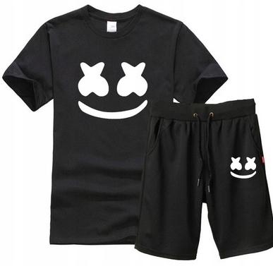 Męski Letni Komplet Marshmello Spodenki + T-shirt 10668488534 Odzież Męska Komplety BY DGOUBY-9