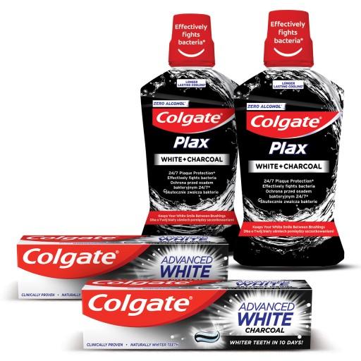 COLGATE ZESTAW wybielający zęby aktywny węgiel