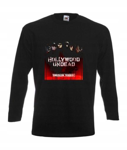 BLUZKA MĘSKA Hollywood Undead WZORY 9657267711 Odzież Męska Koszulki z długim rękawem EF GCEPEF-2