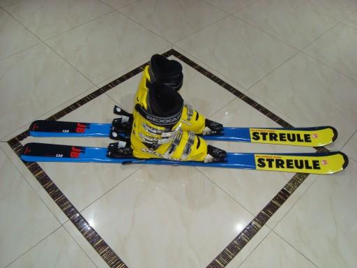 Nowy Komplet Narty Streule 130cm Buty 24 5cm R38 9976668709 Allegro Pl