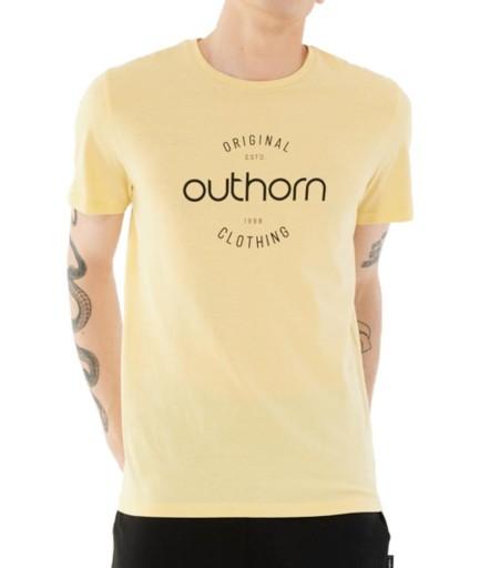 Koszulka męska Outhorn jasno-żÓlta HOL21 TSM600A 10582903651 Odzież Męska T-shirty GH QMADGH-4