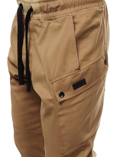 O/11103 SPODNIE CHINO JOGGER OZONEE CAMELOWE_XL 9311224396 Odzież Męska Spodnie BD BCUABD-2