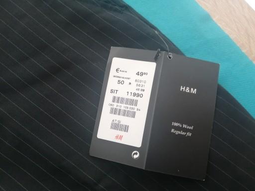 H&M nowe eleganckie 86/88 10769985654 Odzież Męska Spodnie DY BQOMDY-5