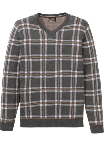 R457 BPC Sweter w kratkę Regular Fit r.56/58 10228685362 Odzież Męska Swetry BF LFRVBF-3