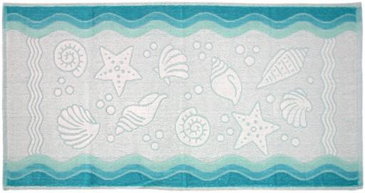 Ręcznik Flora Ocean 70x140 Turkusowy Greno