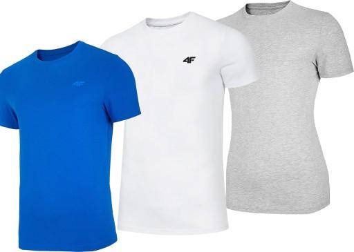4F ZESTAW T-SHIRT MĘSKI KOSZULKA TSM003 ' XL 10515308341 Odzież Męska T-shirty PD LUSSPD-2