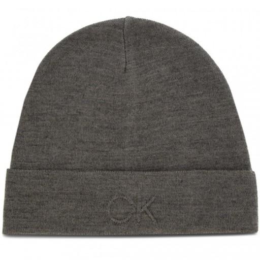 CALVIN KLEIN czapka zimowa logo BEANIE