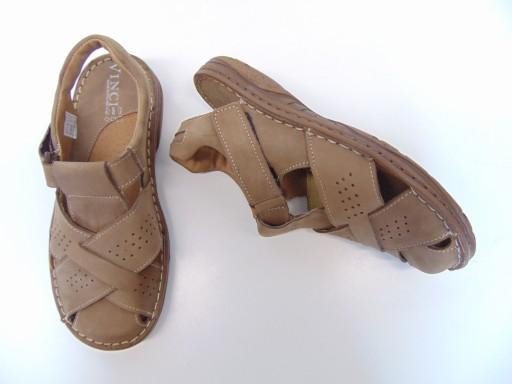 Vinci Nikopol 402-31 sandały brązowe r.41 k2obuwie 10545647715 Obuwie Męskie Męskie FU LNPIFU-8