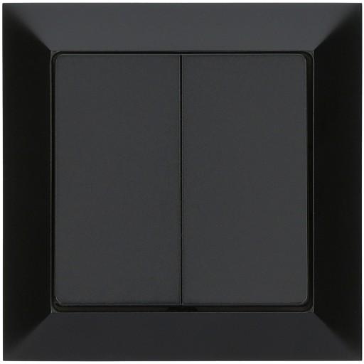 Wyłącznik schodowy podwójny PREMIUM czarny MAT