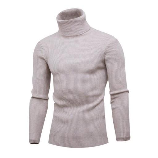 Sweter męski ciepły sweter z wysokim kołnierzem 10709688444 Odzież Męska Swetry CT ZBHACT-4
