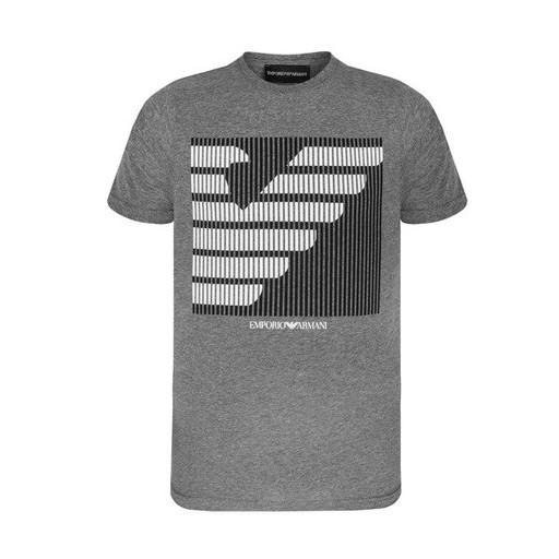 EMPORIO ARMANI szary t-shirt męski E14 r.L 8721962086 Odzież Męska T-shirty FY LFYWFY-8
