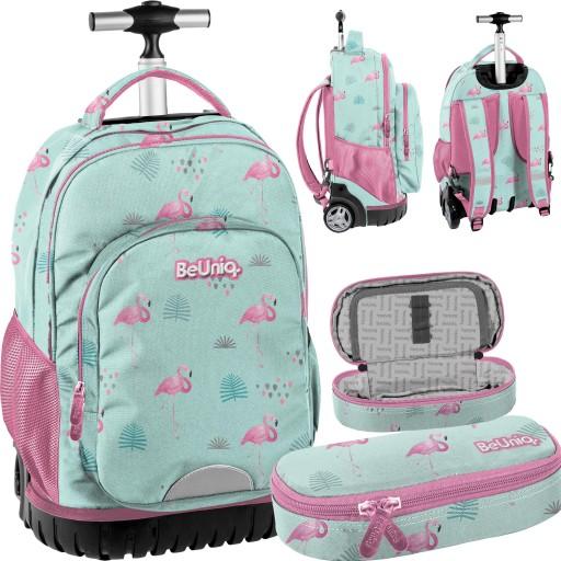 Plecak Na Kolkach Dla Dziewczyny Szkolny Flamingi 9480460294 Allegro Pl