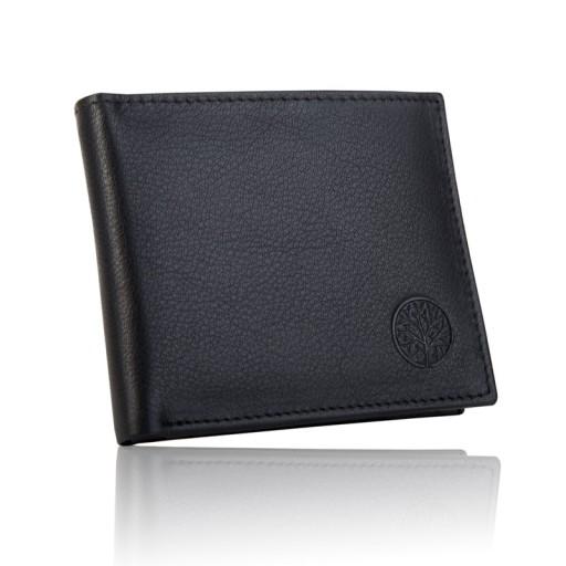 Skórzany portfel męski Betlewski skóra naturalna