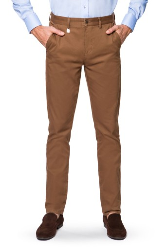 Spodnie Męskie Chino Beżowe Lancerto Dennis 38/32 10083009405 Odzież Męska Spodnie PR CRVUPR-5