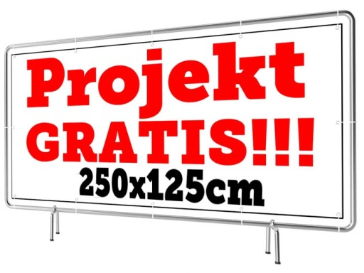 Baner Reklamowy Wzory 250x125cm - Projekt Gratis