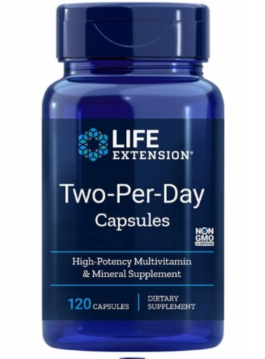 LIFE EXTENSION TWO-PER-DAY MULTIWITAMINA 3x120CAPS