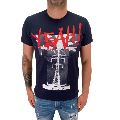 T-Shirt Diesel MEZZA-YEAH 0091B 81E XS 10735807456 Odzież Męska T-shirty UC TABNUC-8