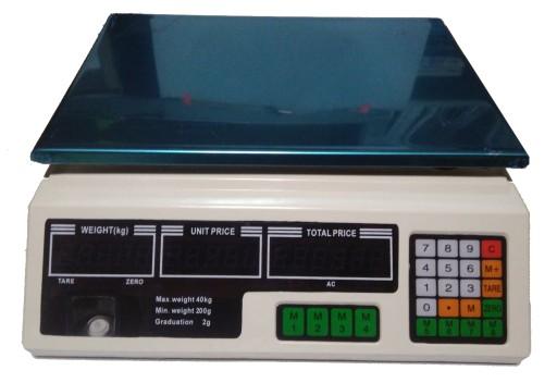 Waga Elektroniczna Sklepowa Magazynowa Lcd 40kg 2g 8516698274 Allegro Pl