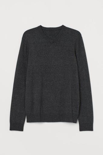 Bawełniany sweter w serek H&M L 180/108 G51 10106089150 Odzież Męska Swetry EE PFMAEE-7