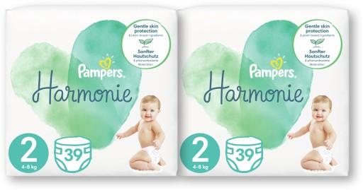 Pieluszki Pampers Harmonie 2 Mini 2x39 szt
