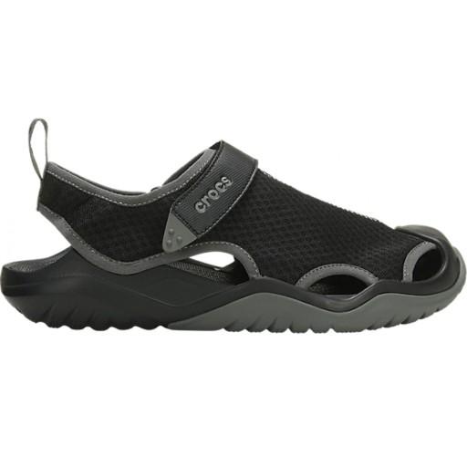Sandały Czarne Crocs Swiftwater Mesh 205289-001 10797726543 Obuwie Męskie Męskie RQ FKEHRQ-8
